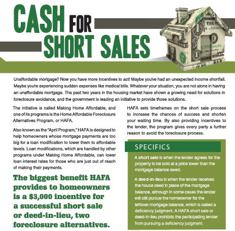 Free Special Report: Cash For Short Sales