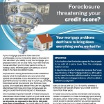 Free Special Report: Foreclosure Threatening Your Credit Score
